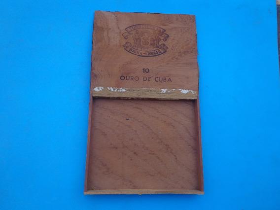 Caixa Madeira Suerdieck 10 Ouro De Cuba Década 60