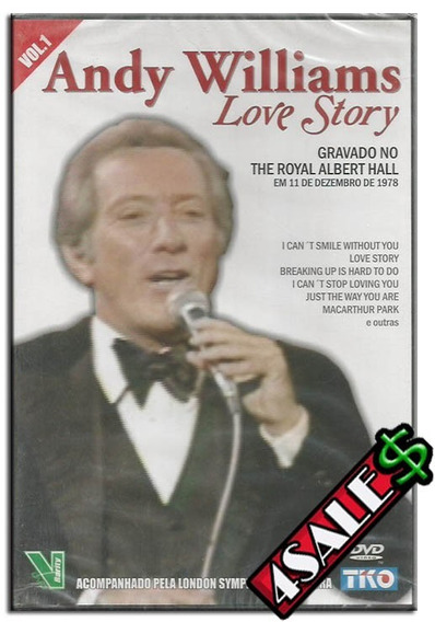 Dvd Andy Williams Love Story London Symphony Orchesta Music