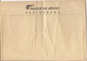 Papel Radiograma Panair Do Brasil
