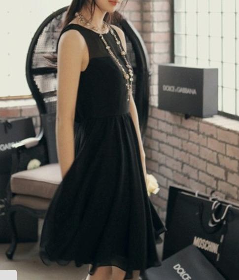 Vestido Preto Feminino -- Pronta Entrega