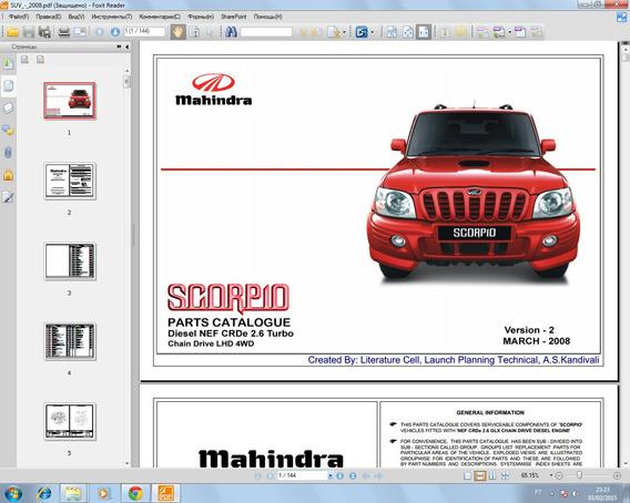 Mahindra Catalogo De Peças Mahindra Suv Crde 2,6 Ano 2008