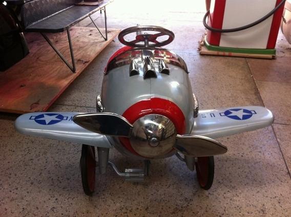 Avião Pedalcar Em Metal - Consultar Frete