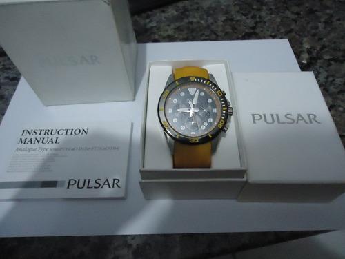 Relógio Pulsar + Manual E Caixa - 100% Original