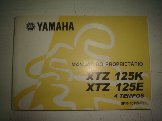 Manual Moto Yamaha Xtz 125 K E 2003 2004 2005 2006 Original