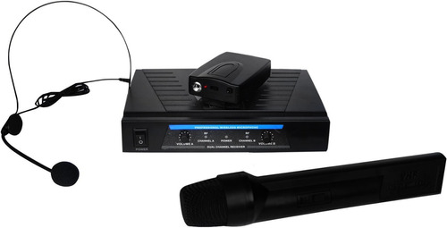 Pack De Microfonos Solapa Diadema Inhalambrico 80m Vecc
