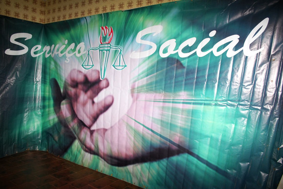 Fundo Fotografico Formatura - Serviço Social - 2,40 M X4,40
