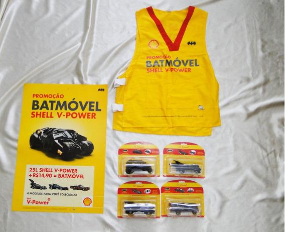 Coleção Shell 4 Carrinhos Batmóvel + Material Promocional