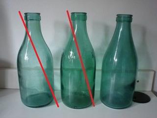 Antigua Botella De Leche Color Verde