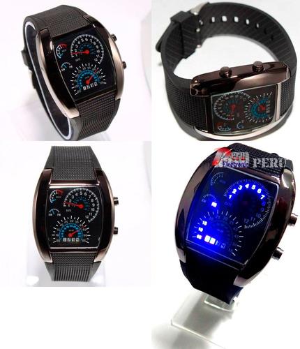 Imagen 1 de 5 de Reloj Digital Sport 44 Led Tablero Velocimetro Turbo