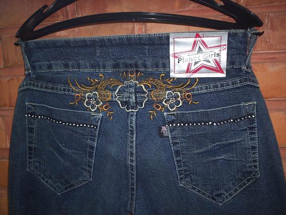 Calça Jeans Planet Girl Bordadinha Tamanho 36