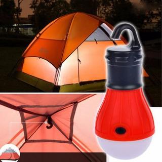 Lampara De Led Para Camping A Pila, Ideal Para Carpa Camping