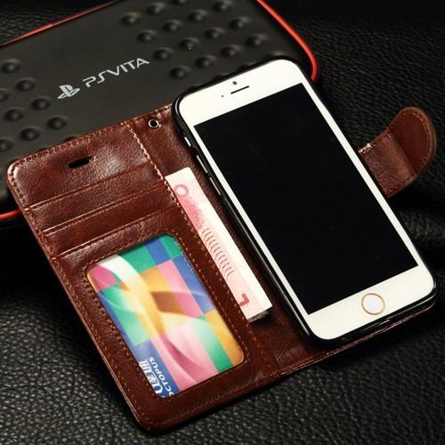 c32cf951830 Elegante Funda Cartera iPhone 6, 6 Plus 6s, 6s Plus Envio Gr - $ 349.99 en  Mercado Libre