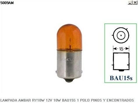 Kit Lampada Ambar 10 Und. Ry10w Bau15s 1polo Osram