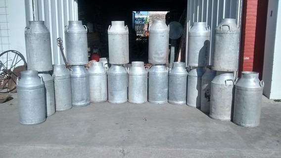 Tachos De Leche Aluminio Para Adorno Muy Lindos