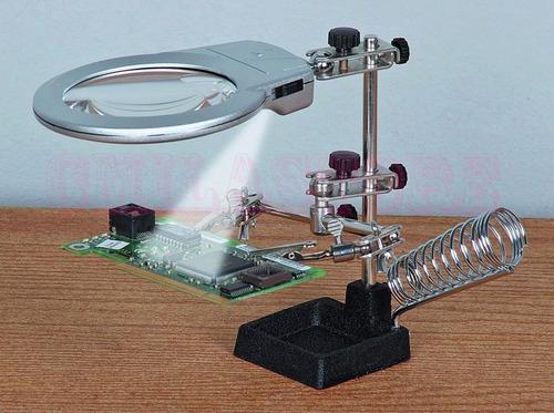 Lupa Base Para Reparar Celulares Y Tarjetas Electronicas