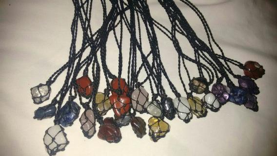 Colar Pedras Sortidas Kit Com 10