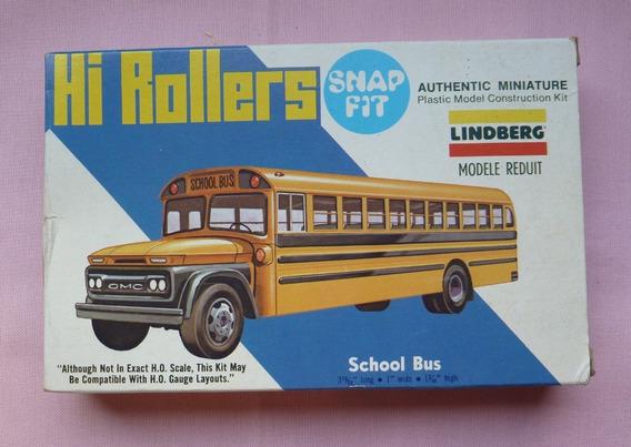 Onibus Escolar G M C Maquete H O Model Kit Lindberg Raro