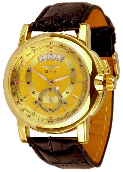 Elegante Relógio Minoir Voiron Automatikuhr,exclusivo!