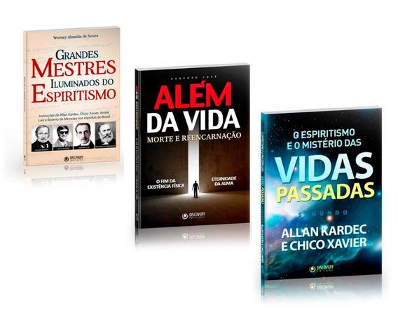 Espiritismo Vidas Passadas Além Da Vida Reencarnação 3 Vols.