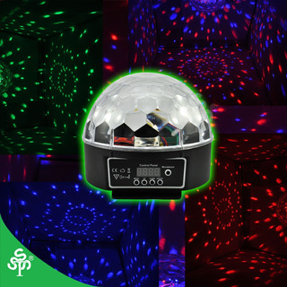 Led Tienda Luces Discomovil Esfera Led De Cristal Bar Dj