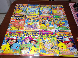 Lote Com 3 Revistas Pokemon Club - Oficiais