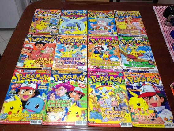 Lote Com 3 Revistas Pokemon Club - Oficiais