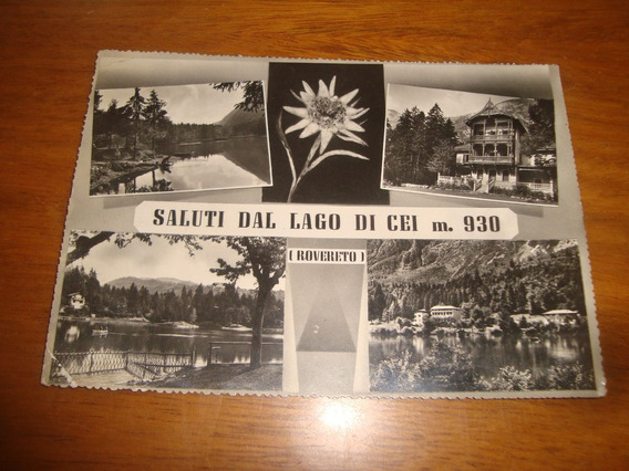 Tarjeta Postal Antigua- Saluti Dal Lago Di Cei- Italia