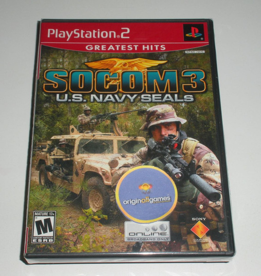 Socom 3 U. S. Navy Seals ¦ Jogo Ps2 Orig Lacrado ¦ M Física
