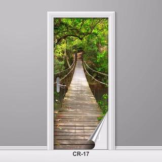 Adesivo Para Porta Ponte Estreita Caminho Criativo Decoração