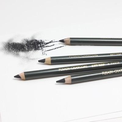 4x Lápis Pastel Crayon Conté À Paris Cor Charcoal Carvão