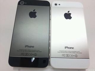 Carcasa Trasera iPhone 5 Con Botones Dorada Plata Original