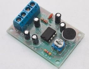 Kit Montar Amplificador Ci Lm386 E Microfone De Eletreto