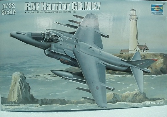 Avion Trumpeter P/armar Raf Harrier Gr 1/32 Kit 2287