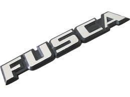 Emblema Curvo Fusca Antigo
