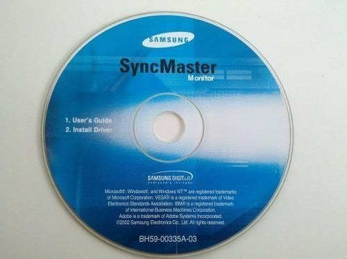 Cd Instalação Monitor Samsung Syngmaster. Original.