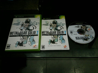 Metal Gear Solid 2 Substance Completo Para Xbox Normal