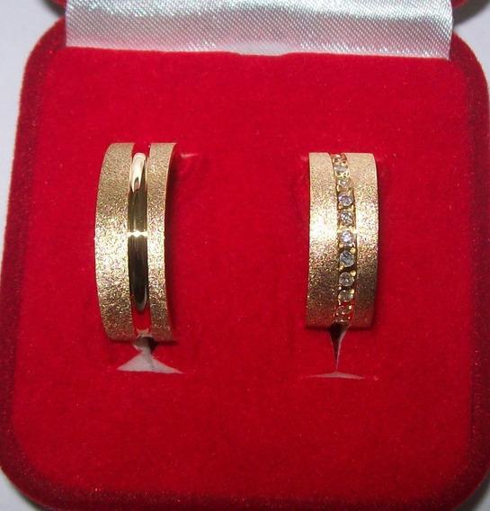 Par Alianças De Ouro 18k 6mm Noivado E Casamento
