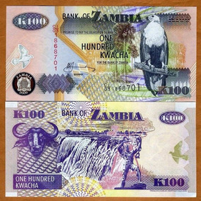 Zâmbia 100 Kwacha 2006 P. 38f Fe Cédula - Tchequito