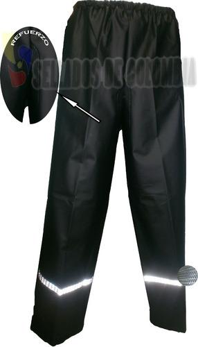 Pantalón Impermeable Moto Cal18, No Desechable, 2 Obsequios.