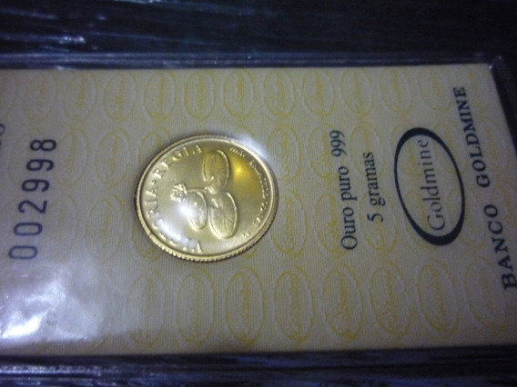 Moeda De Ouro Puro - 999- Vit Regea