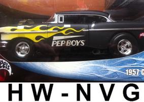 Hot Wheels 1:18 1957 Custom Chevy Pep Boys Lacrado