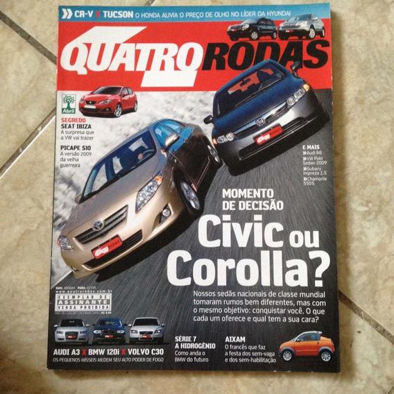 Revista Quatro Rodas 578 Maio 2008 Civic Corolla Aixam Bmw
