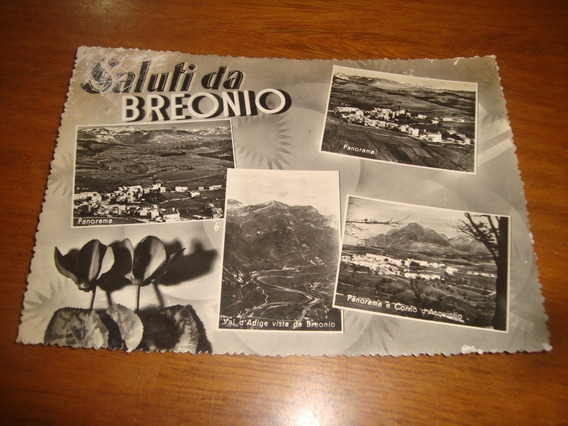 Tarjeta Postal Antigua- Saluti Da Breonio- Italia