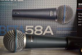 Microfone Shure Beta 58a Profiisional E Super Cardioide