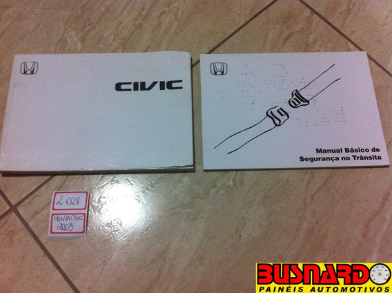 Manual Do Proprietário Honda Civic 2003 -l028