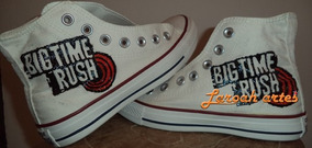 Tênis # Big Time Rush Btr Converse All Star Pintado À Mão