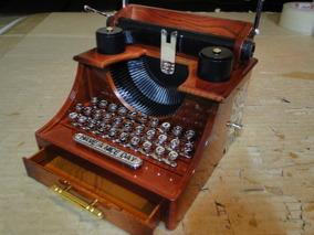 Caixinha De Musica E Porta Joias, Forma Maquina De Escrever