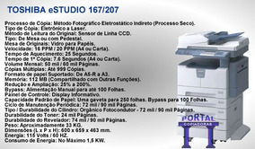 Multifuncional Toshiba E 167 04 Equipamentos