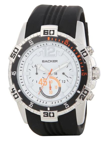 Relógio Masculino Analogico Com Cronografo Backer 3085559m B