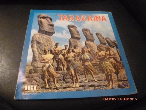 Vinilo Lp De Tararaina  --musica Pascuense (u1005